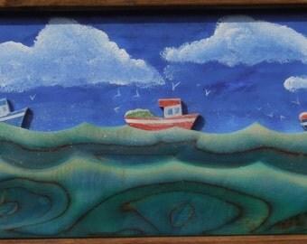 Fishing boats on the Doom Bar