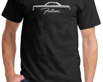 1964-65 Ford Falcon Hardtop Classic Outline Design Tshirt
