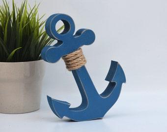 Wooden Anchor - Beach decore - nautical anchor