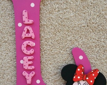 Handmade Minnie Mouse Themed 3D Character Personalised Wall / Door Plaque Custom Made