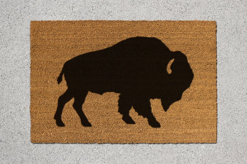 Buffalo Doormat Buffalo Door Mat Buffalo Welcome By