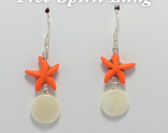 Starfish and Pearl Earring
