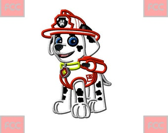 Marshall Paw Patrol Embroidery Design With Number