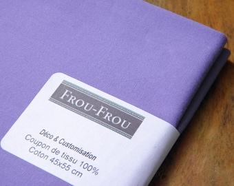 17 - FROU-FROU - coupon 45 x 55 fabric light cotton - Collection Uni - COL 705 Pervenche