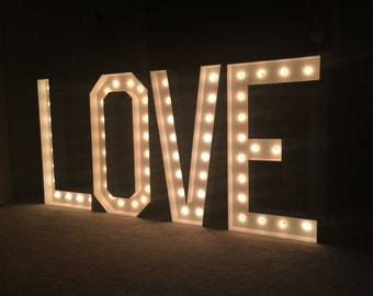 Large 4ft LOVE Vintage Letter Lights