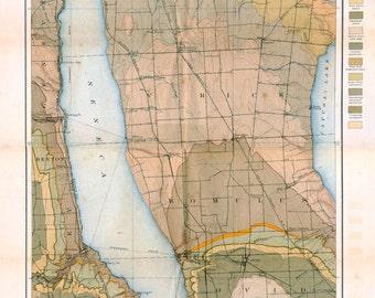 Seneca Lake Geological Map - 1900