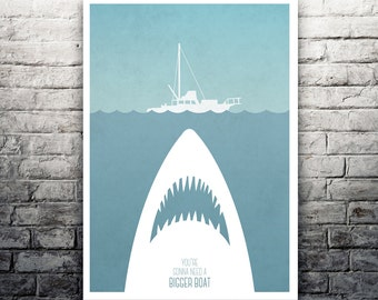 You're Gonna Need A Bigger Boat Jaws movie poster print