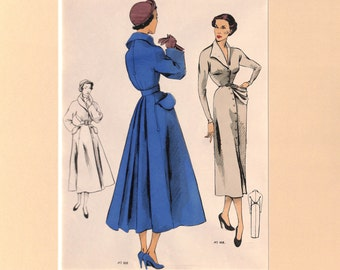 French Fashion Print, Womens Suit and Coat, 1950