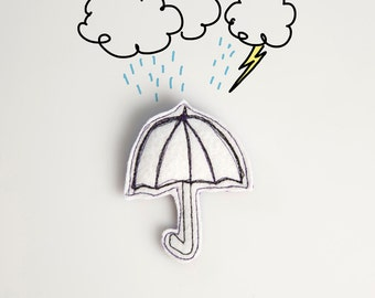 Umbrella brooch I'm singing in the rain