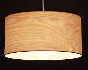 Lampshade D.40 cm, birch-tree veneer