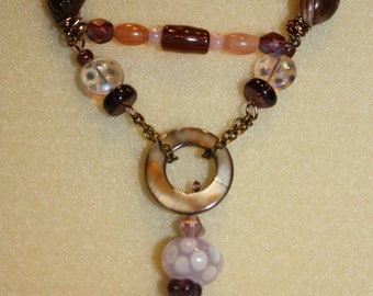 shell and bead dangle necklace