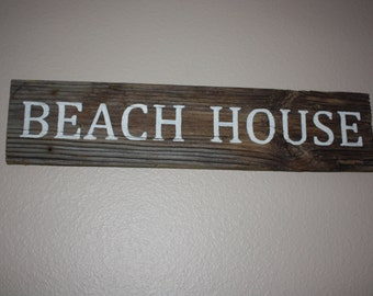 Rustic Beach House Sign