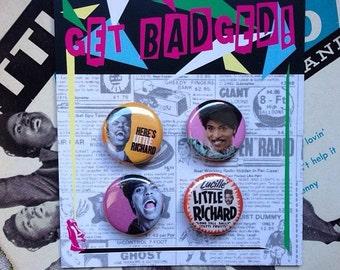 Little Richard 1 inch badge set of 4