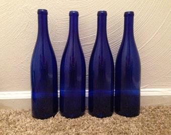 1 Wine Bottle, Cobalt Blue
