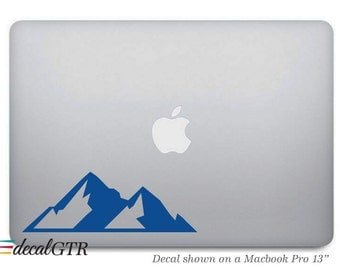 Mountain Decal Sticker for Macbook - Hiking Car Decal - Laptop Notebook Removable Vinyl Sticker - Hills - G006