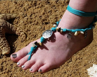 Barefoot Sandals, Nautical, Beach, Wedding, Jewelry