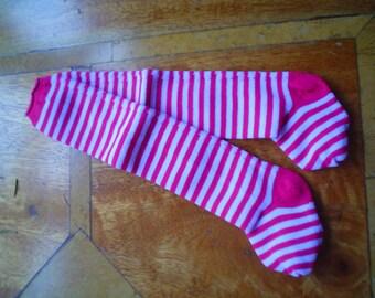 70mm Striped Doll Socks in Red or Navy & white Stripe
