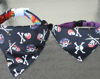 Pirate No-Tie Collar Slip Bandanas