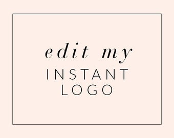 Edit My Instant Download Logo - Logo Add-On - Customize Instant Logo