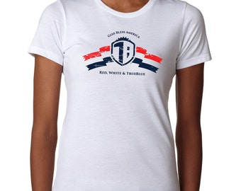Women's 4th of July t-shirt / Red, White & TrueBlue