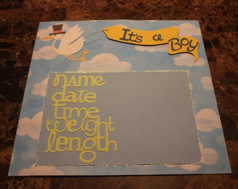 Premade 12x12 Nursery Rhyme Scrapbook