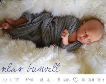 Custom Photo Birth Announcement