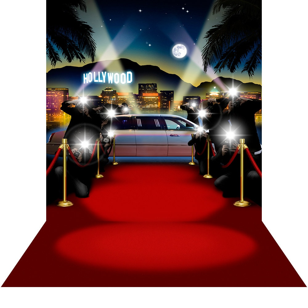 Red Carpet Backdrop Papparazzi Hollywood High Quality