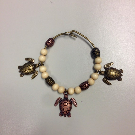 turtle bangle charm bracelet by designsbyskstudio on