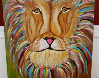 Lion Giclee Print on Fine Art Paper