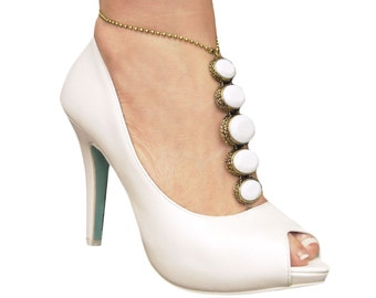 Beautiful white barefoot sandals