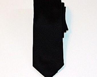 Slim Solid Black Tie