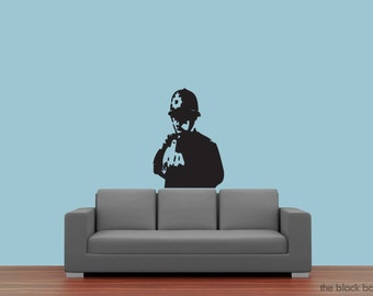 Banksy inspired Police wall decal