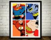 4 Superheros DC - Classic...