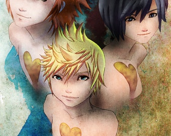 Axel, Roxas, and Xion Poster