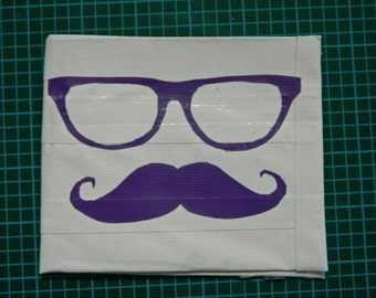 Glasses + Mustache Duct Tape Wallet