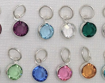 Two Swarovski Birthstone Charms