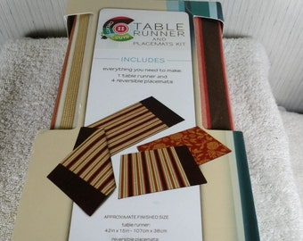 Creative Cuts table runner and placemat kit