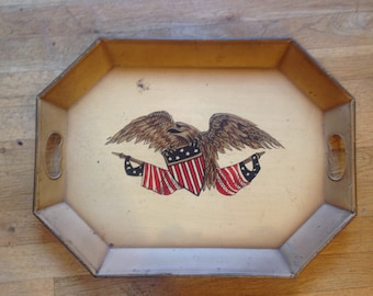 Vintage Patriotic Serving Tray