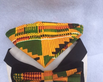 Kente Cloth Men's Bow Tie Set