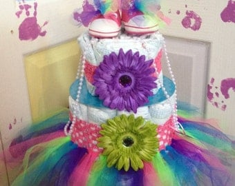 80's Princess Diaper Cake