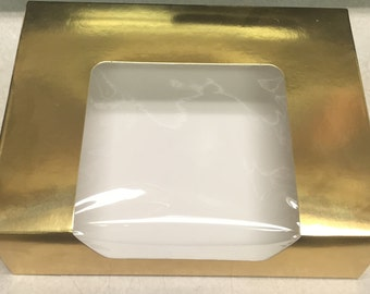 Gold Cookie Box