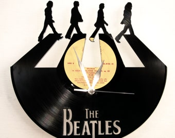 The Beatles vinyl clock