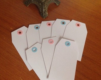 Set of 25 tags white color &