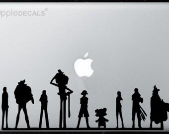 One Piece All MacBooks  Vinyl Stickers, Skin, Decal