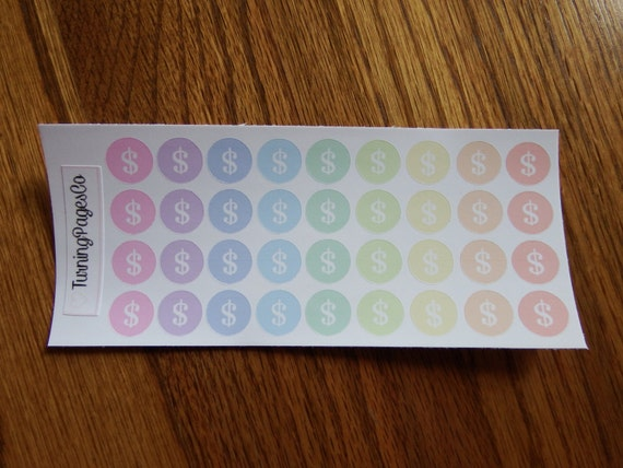 Pastel Circle Pay Day/Bills Planner Stickers