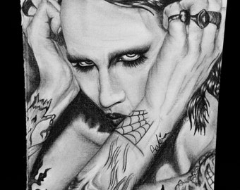 Marilyn Manson Original Drawing