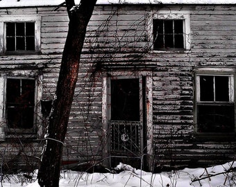 Abandoned, Haunted, Ghost, Creepy, Dark, Digital Photo, Digital Art