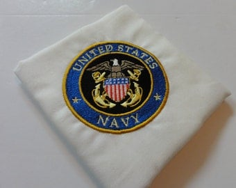 Embroidered 14x14 United States Navy Handkerchief (Your Choice)