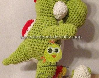 Yoshi gehäkelt Crochet Pattern Amigurumi deutsch german