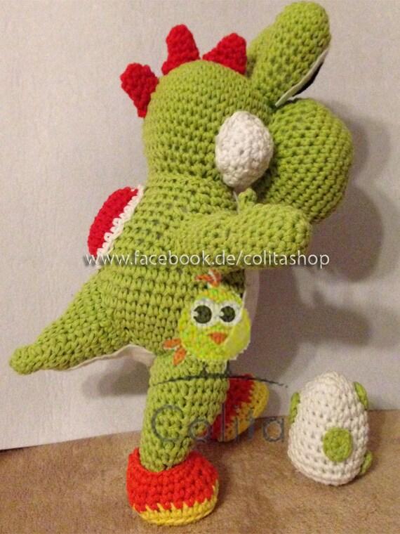 Yoshi gehakelt Crochet Pattern Amigurumi deutsch german